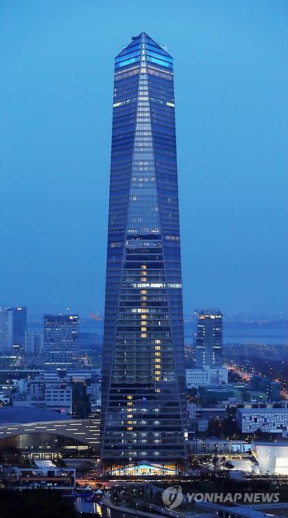 """韩国最高建筑松岛""""东北亚贸易塔""""即将竣工 (2)"""
