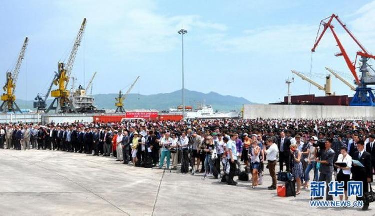 朝鲜罗津港3号码头举行竣工仪式(组图) (2)