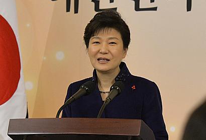 资料图片:韩国总统朴槿惠