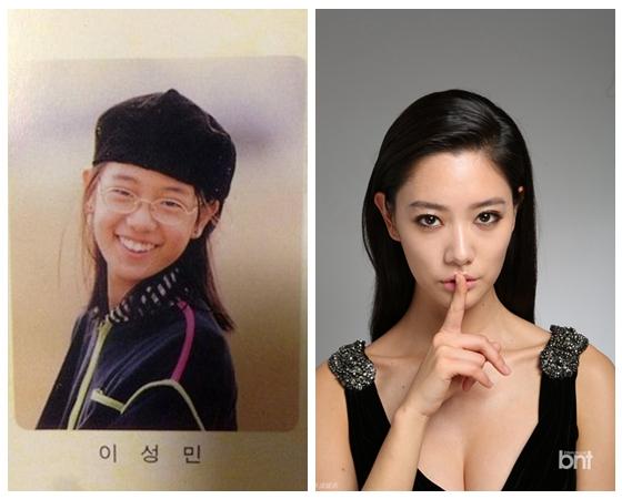 韩国女星申敏儿在社交网站上公开了童年的老照片和刚
