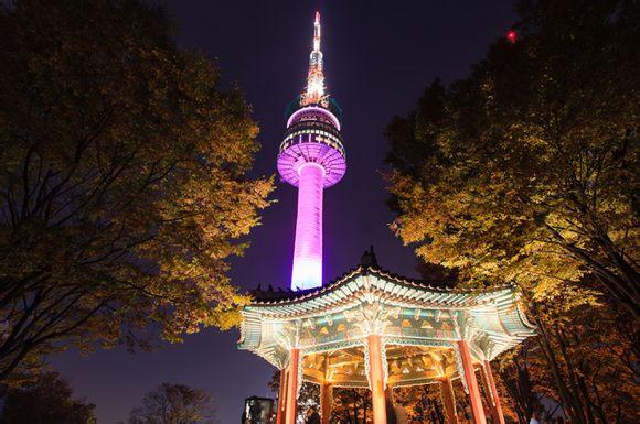 """骆山公园及南山等景点入选""""首尔10大最美夜景地"""""""