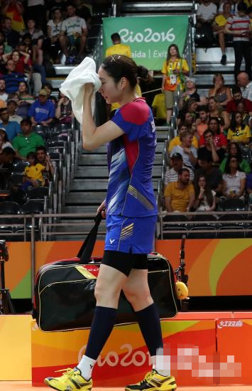 【里约奥运】羽毛球女单四分之一决赛:韩国成池铉憾