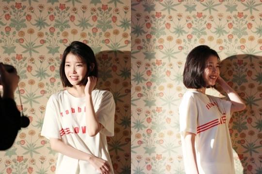 手IU(本名:李智恩)公开了其第四张个人专辑《Palette》同名主打