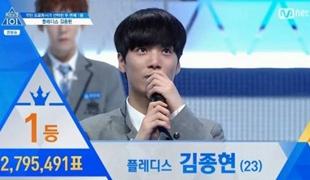 《PRODUCE 101》第二季第2轮排名:金钟炫摘冠