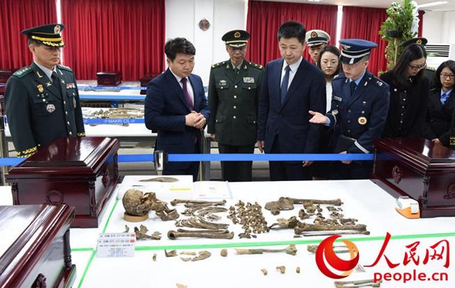 中韩启动第五批在韩中国志愿军烈士遗骸装殓工作