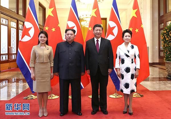 金正恩三个月内第三次访华 中朝领导人都谈了什么?