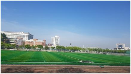 朝鲜大学足球场,韩国首家民立大学,光州最具代表性的大学——朝鲜