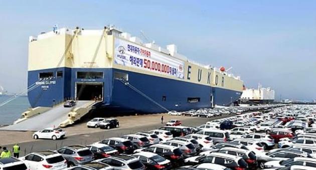 韩产汽车出口萎靡主要地区市场占有率持续不振