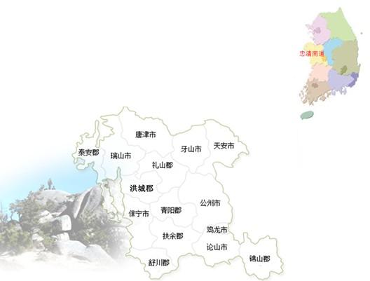 忠清南道地图