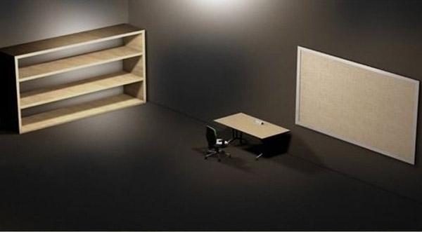 带家具3d电脑桌面背景图